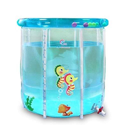 Juonjee Luftbad-Material Umweltschutz PVC Anwendbar Stages Aufblasbare Babyschale aus Kunststoff (Size : 76cm*76cm)