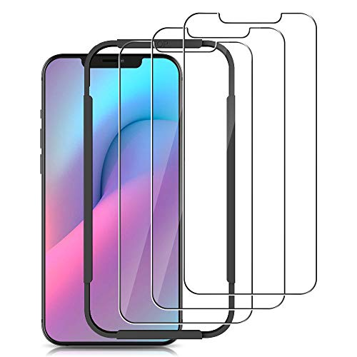 opamoo 3 Pack Screen Protector Compatible with iPhone 12/12 Pro Glass Screen Protector 6.1'' [Easy Installation Kit] Tempered Glass Film Compatible with iPhone 12/12 Pro, Anti Scratch, Bubble Free