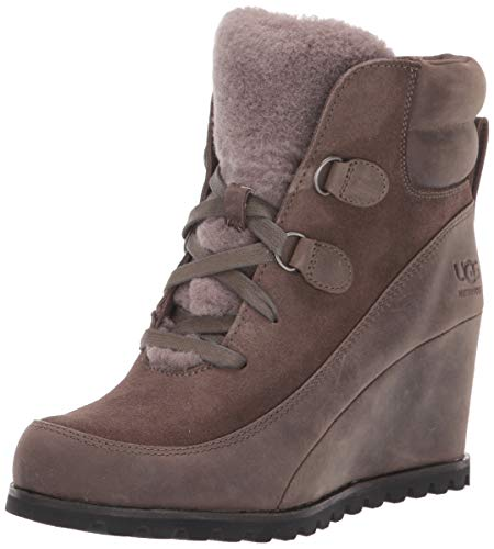 UGG Women's VALORY Ankle Boot, mole, 9.5 M US