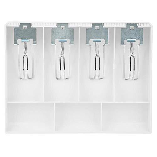 Reemplazo de inserción de caja registradora, bandeja de inserción de caja registradora Bandeja de inserción de caja registradora, tienda conveniente y atractiva para el(white)
