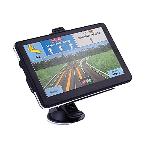 Navigatore Satellitare Auto per Camion, 5 pollici GPS per Auto Camion Aggiornamento gratuito Mappa 8 GB ROM Schermo GPS ad alta luminosità per 52 paesi mappa