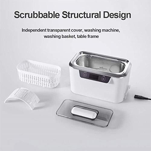 Touch-Steuerung Intelligente Timing Digitaler Ultraschall Reinigung, für Schmuck, Uhren, Brillen, Zahnersatz uvm Ultraschallreiniger Reinigungsgerät