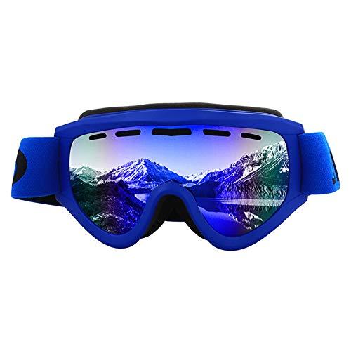 Lirong Snowboard Sport Winter Motorbril, dubbele lens, spiegel, sneeuw, compatibel met mist en UV-bescherming UV400