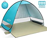 G4Free Outdoor Automatic Pop up Beach Tent Anti UV Portable Cabana Shelter