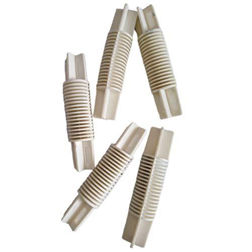 joyMerit 5 Stück 26mm / 28mm Erker Fenster Vorhang Pole Corner Bend Joint Ellenbogen Stecker 4 Farben Wahl - Weiß