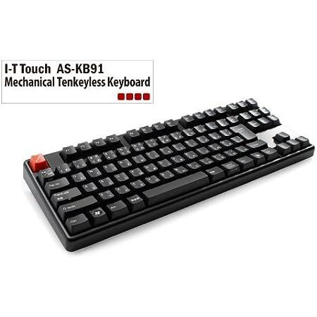 Archiss Cherry茶軸 日本語JIS配列テンキーレスメカニカルキーボード USB&PS/2両対応 AS-KB91T