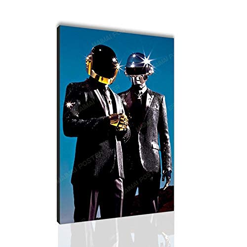 Daft Punk Canvas Poster Series Wall Art Picture Print Modern Home Bedroom Decoration Poster Santa RONA (24x36 Canvas roll,PK023)