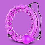 Hula Hoop,Entrenamiento En Casa Smart Sport Hoop con Desmontable Ajustable Auto-Spinning Thin Waist Abdominal Exercise Gym Hoop Fitness Equipment,Sport Fitness Equipment Púrpura