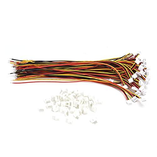50 piezas de conector hembra ZH-1.5 de 3 pines, con cable de 28 AWG de 15 cm + 50 piezas de enchufe macho de materiales eléctricos utilizados en electrodomésticos