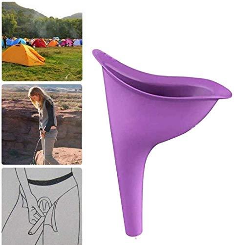 Cortneyrs 5X Urinario Femenino Urine Female Dispositivo de Urinación Orina Orinar de Pie Portátil Mujer Viajar Camping Senderismo Servicios Baños Públicos, Púrpura (Orinal Plegable)