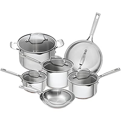 Emeril Lagasse 12 Piece Stainless Steel Copper Core Cookware Set