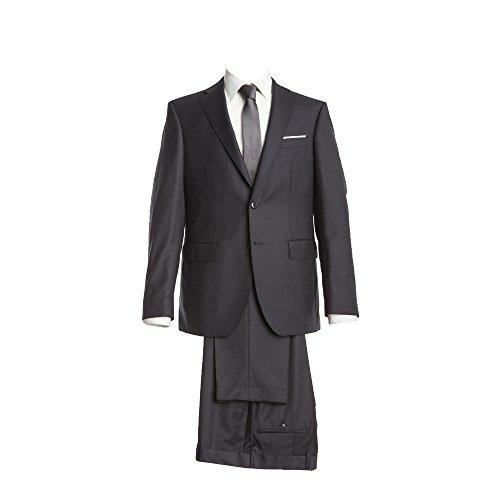 Barutti Anzug Dunkelgrau feinste Struktur Tailored Fit taillierter Schnitt 100% Pure Wool Schurwolle Super 150S Sakko Tarso AMF Hose Tosco 31