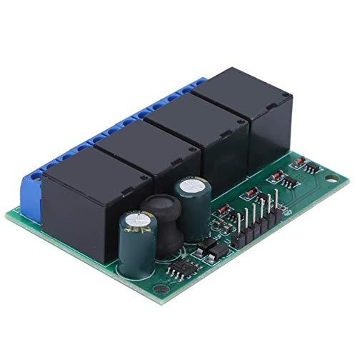 Mxzzand Módulo de relé de Tablero de Interruptor electrónico de Disparador biestable autobloqueante para electrónica automotriz