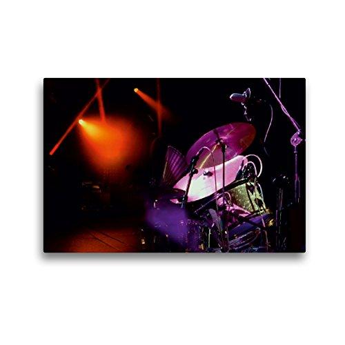 CALVENDO Premium Textil-Leinwand 45 x 30 cm Quer-Format Faszinierendes Schlagzeug, Leinwanddruck von Peter Roder