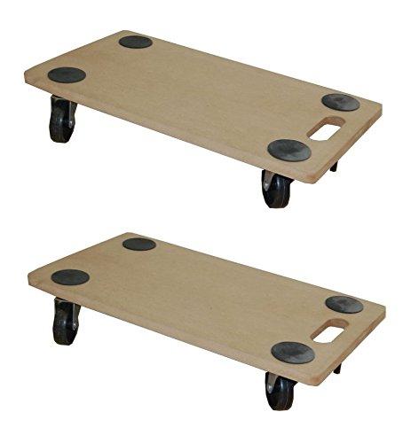 2 Stück Transportroller MDF 200 kg Möbelroller Rollbrett Möbelhund Möbel Roller