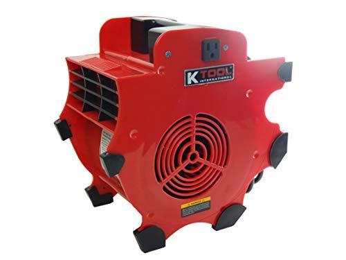 K Tool International Workforce Blower 180W, 300 CFM, Chill Blower, 110-120V/60Hz, 12 Amp, 3 speeds 4-Position, Indoor or Outdoor Use, Fast Drying; KTI77702