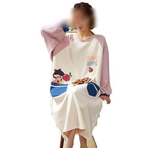 Hopereo Home Style Joven Niña Lindo Camisón de Algodón de...
