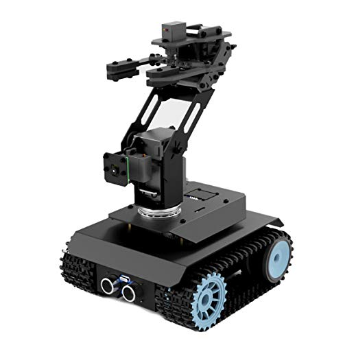 Adeept RaspTank-Pro Robot Car Kit, WiFi Wireless Smart Robot for Raspberry Pi 4 3B 3B+, 3-DOF Robotic Arm, OpenCV Target Tracking, Video Transmission, Line Tracking, Raspberry Pi Robot with PDF