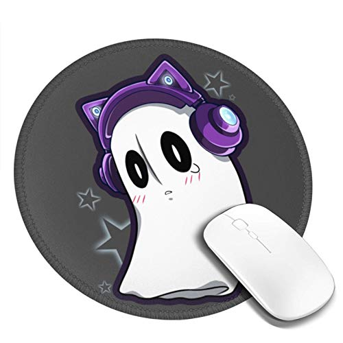 Round Mousepad Napstablook Time - Undertale Laptop Mouse Pad Waterproof Non-Slip Mouse Mat for Office Games 7.9x7.9inch