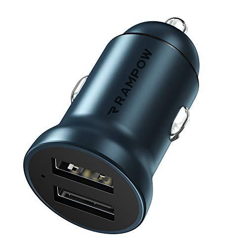 -50% caricatore da Auto Alluminio, 24W / 4,8A, Doppio Ingresso USB