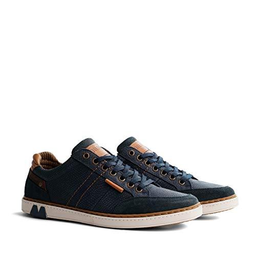 NoGRZ B.Fuller Herren Leder Sneakers | Blau EU 45