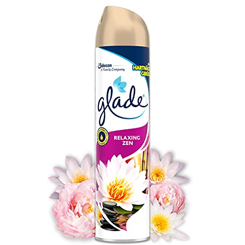 Glade - Ambientador Aerosol, eliminación de malos olores, hasta 7 horas de fragancia Relax Zen, con aceites esenciales, 1 unidad - 300ml