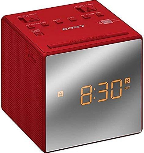 Sony ICFC1TR.CED - Radio Reloj, Alarma Dual, Rojo