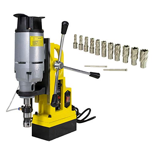 Steel Dragon Tools MD45 Magnetic Drill Press with 13PC 1in. HSS Annular Cutter Kit