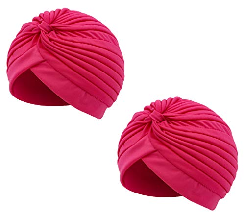 Pack 2 Plisado Cabeza Turbante Gorra Sombrero India...