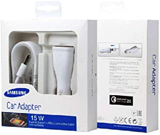 Samsung Adaptive Fast car Charger (Detachable Micro USB Cable) 15W