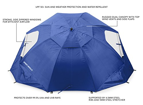 Sport-Brella Vented XL Sun and Rain Umbrella with Carry Bag