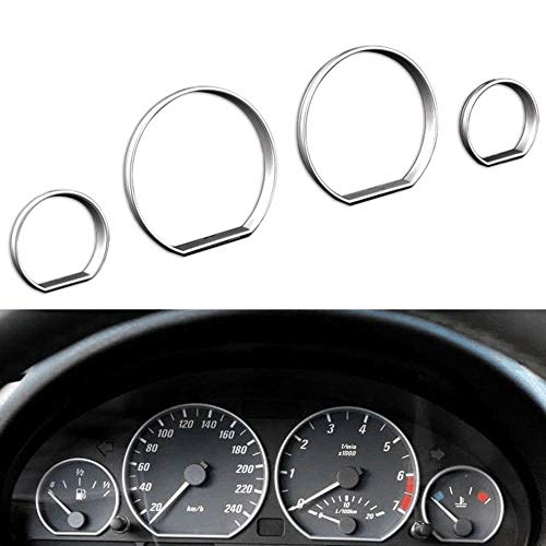 BAAQII Instrument Cluster Dashboard Meter Ring Cover Case Trim for BMW E46 3 Series
