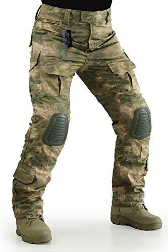 ZAPT Taktische Hose mit Kniepolstern, Airsoft, Camping, Wandern, Jagd, BDU, Ripstop, Kampfhose, 13 Arten, Armee-Camouflage-Uniform, Militärhose (FG Camo, M34)