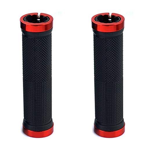 Puños de manillar de bicicleta MTB de ciclismo de montaña Empuñadura de manillar antideslizante de goma