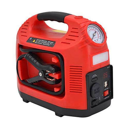 MYYLY Arrancador Portátil para Automóvil, Amplificador De Batería De Automóvil, Cargador De Batería Externo para Automóviles Y Tractores De 12V,Red12000mAH