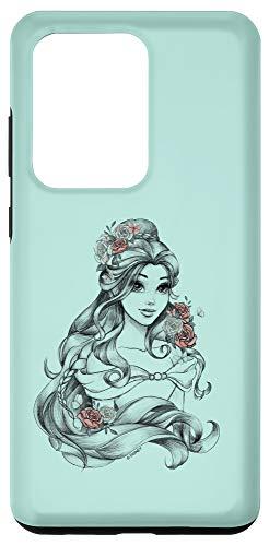 Galaxy S20 Ultra Disney Beauty & The Beast Floral Belle Sketch Case