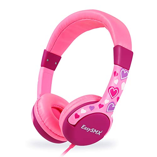 EasySMX Auriculares Niños, [Regalos de Reyes] Cascos de Diadema para Niños, Cascos Infantiles con Cable, 3.5 mm Jack, Volumen Limitado de 85Db para iPod iPad iPhone(3.5mm) Handy Tablet PC MP3 MP4