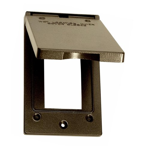 Sigma Electric, Bronze 14248BR 1-Gang Vertical GFCI Cover