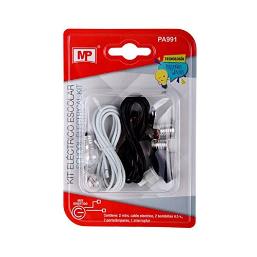MP Kit de Experimentacin Elctrica Bsica para Trabajos Escolares Sin Motor