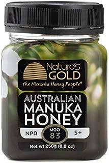 100% Raw Australian Manuka Honey MGO 83+, Cold Pressed, Certified, Not Blended, Harvested on Australia's East Coast (250g)
