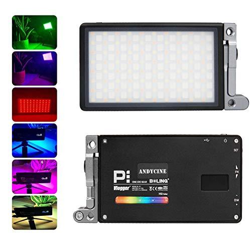 ANDYCINE Boling P1 Format vidéo de Poche Lumière vidéo Bicolore RVB avec CRI 96+ TLCI 97 Batterie intégrée Système de Support réglable à 360 °