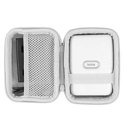 co2crea Hard Travel Case for Fujifilm Instax Mini Link Smartphone Printer (Ash White Case + Inside White)