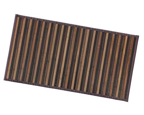 ARREDIAMOINSIEME-nelweb Tappeto Bamboo Legno Stuoia Cucina Bagno Camera Degradè Varie Misure Passatoia bambù Retro Antiscivolo MOD.Bamboo 50X100 Marrone (C)