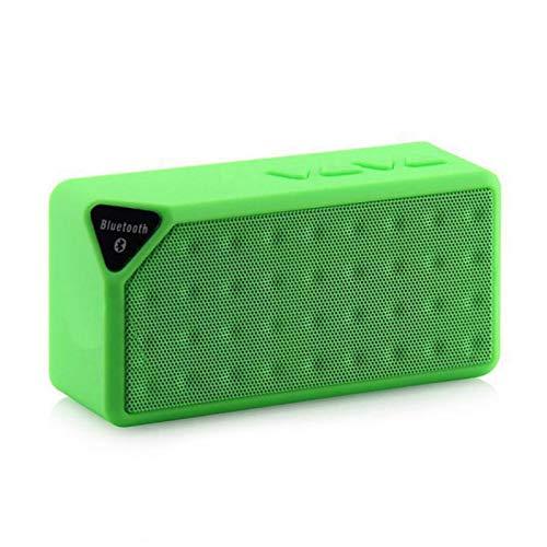 Water Cube - Altavoz portátil inalámbrico con Bluetooth, diseño de cubo de Rubik, color verde