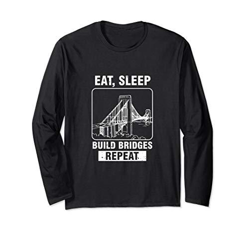 Civil Engineer Bridge Design Engineering Gift Long Sleeve T-Shirt