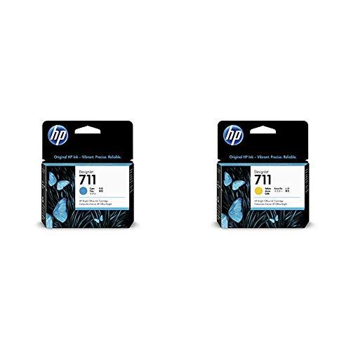 HP CZ132A Cartuccia 711, Giallo & CZ130A Cartuccia 711, Ciano