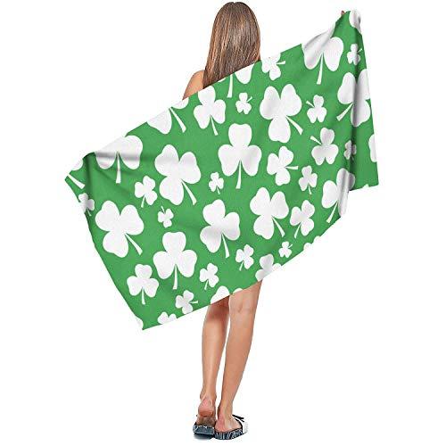 Rndjisq St Patricks Shamrock Soft Designer Extra Large Bath Towel 31.5'x51.2' Luxury Bath Sheet Ultra Absorbent Quick Dry Summer Beach Towel