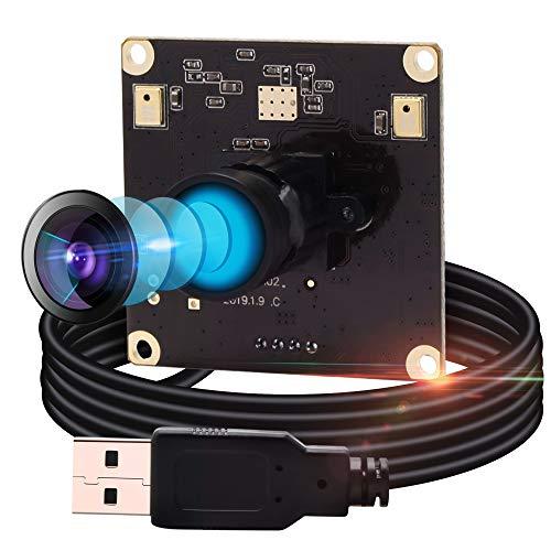 ELP カメラ 13MP USB カメラモジュール 高解像度 Usbウェブカメラミニカメラ/広角 高画質 ウェブカメラ フルHD 2880P ウェブカメラ/Sony IMX214 イメージセンサー ウェブカメラ/100度無歪みレンズカメラ/UVCサポート/プラグアンドプレイ/対応 Windows/Mac/Android/Linux Web カメラ(モデル:ELP-USB13M02-V100-JP)