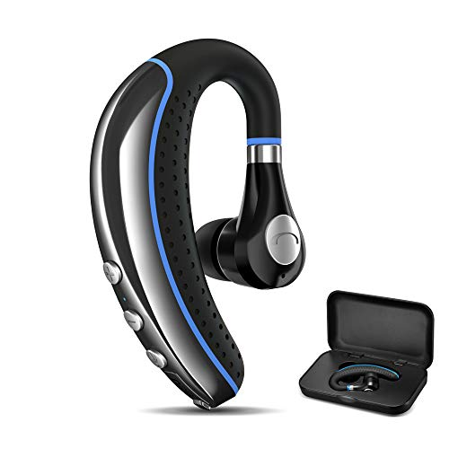 Bluetooth Headset, FIMITECH Wireless Earpiece V5.0 Ultralight Hands Free Business Earphone with Mic for Business/Office/Driving