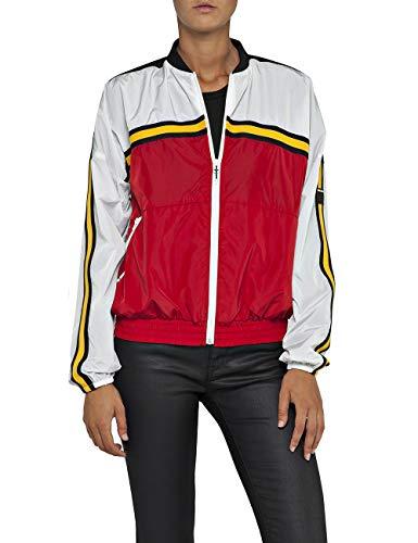 Replay Damen W7506 .000.83320A Jacke, Mehrfarbig (Red/White/Black 10), X-Small (Herstellergröße: XS)
